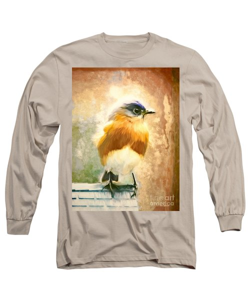 Strapping Bluebird Long Sleeve T-Shirt by Tina LeCour