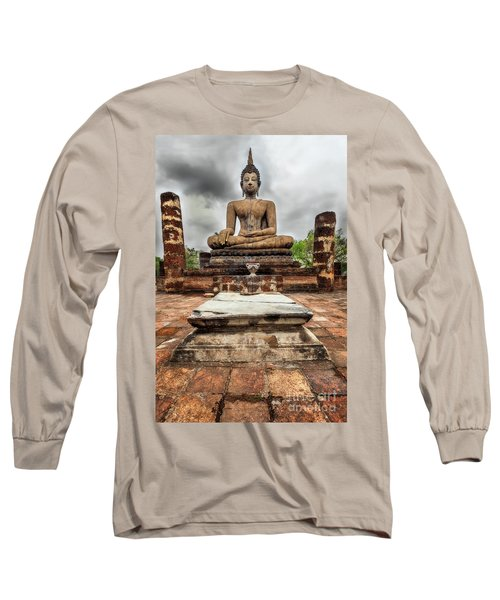 Long Sleeve T-Shirt featuring the photograph Sukhothai Historical Park by Adrian Evans
