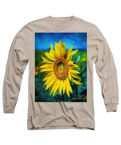 Sunflower Long Sleeve T-Shirt by Ian Mitchell