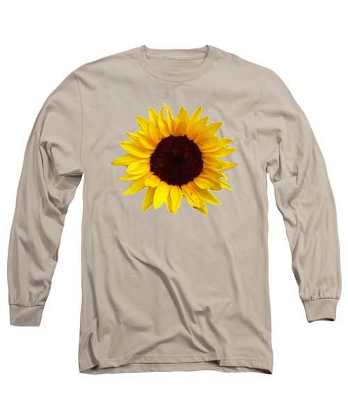 Sunflower Long Sleeve T-Shirt by Jim Sauchyn