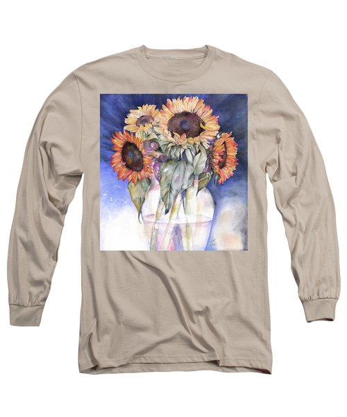Sunflowers Long Sleeve T-Shirt by Nadine Dennis