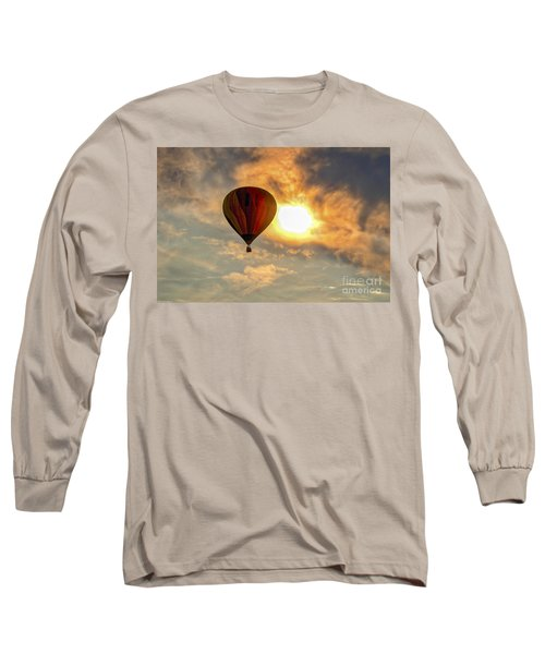 Long Sleeve T-Shirt featuring the photograph Sunrise Flight by Mitch Shindelbower