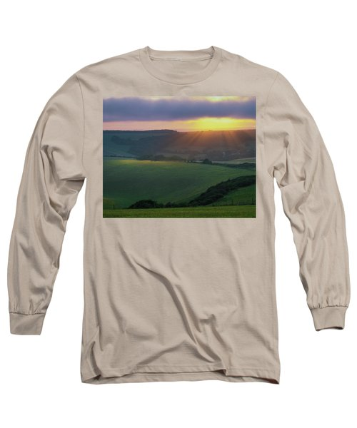 Sunset Over The South Downs Long Sleeve T-Shirt