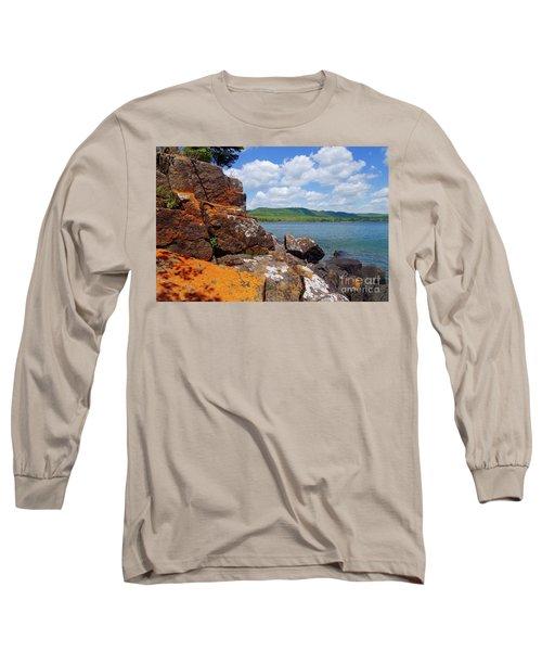 Superior Lichens Long Sleeve T-Shirt by Sandra Updyke