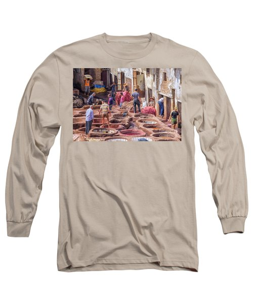 Tannery In Fez Long Sleeve T-Shirt by Patricia Hofmeester