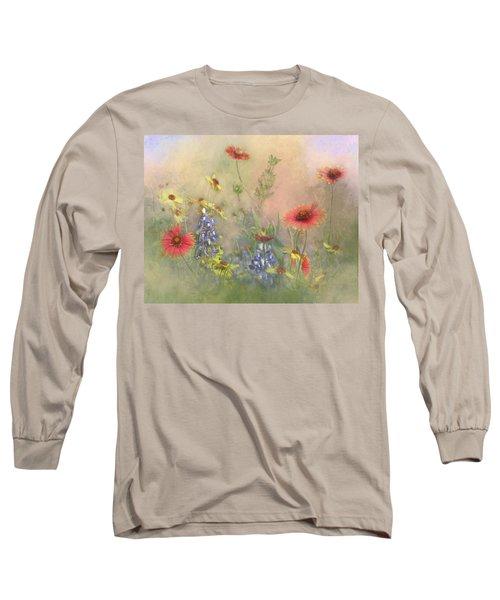 Texas Wildflowers Long Sleeve T-Shirt