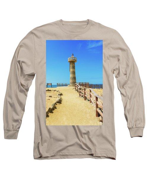 The Lighthouse In Salinas, Ecuador Long Sleeve T-Shirt by Marek Poplawski