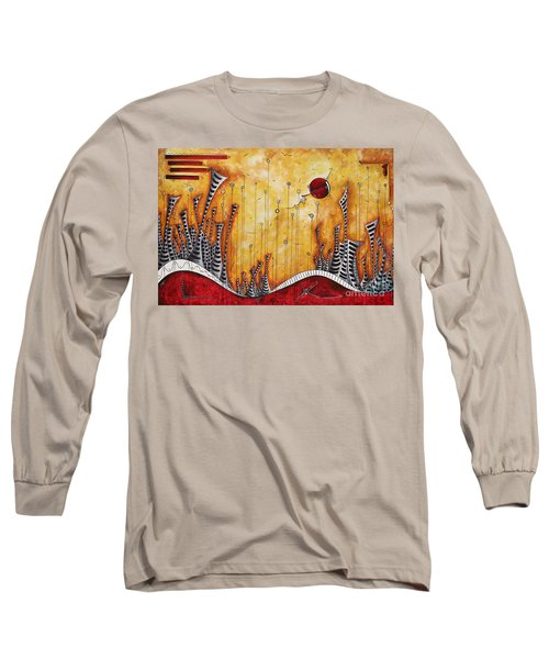 The Outpost Oversized Original Cityscape Apocalyptic Painting By Megan Duncanson Long Sleeve T-Shirt
