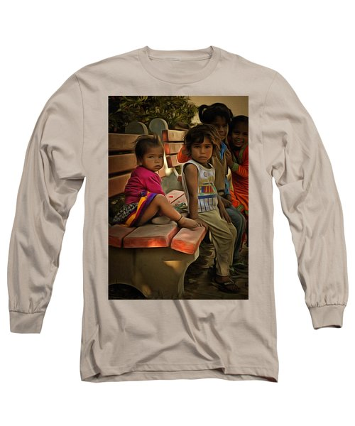 Long Sleeve T-Shirt featuring the digital art Togetherness by Bliss Of Art