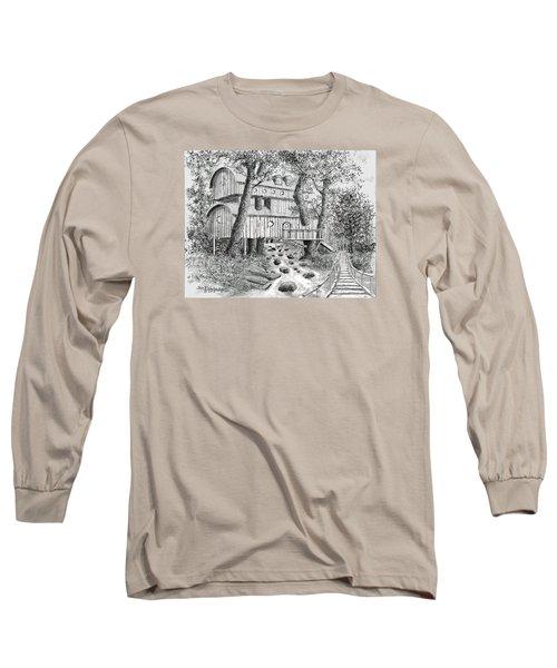 Tree House #5 Long Sleeve T-Shirt by Jim Hubbard