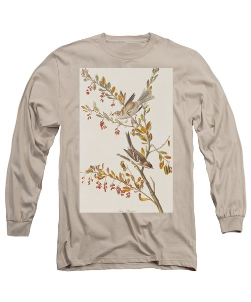 Tree Sparrow Long Sleeve T-Shirt by John James Audubon