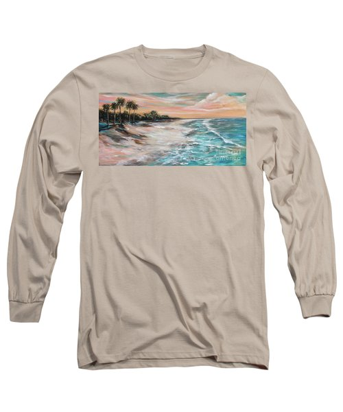 Tropical Shore Long Sleeve T-Shirt by Linda Olsen