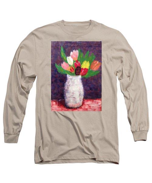 Tulips Long Sleeve T-Shirt by Tamara Savchenko