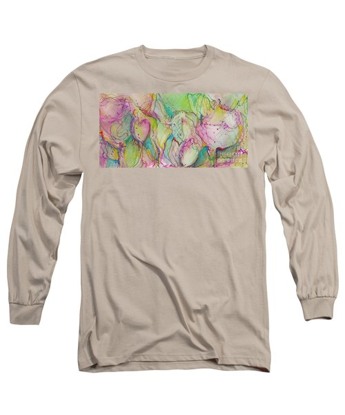 Two Lips Long Sleeve T-Shirt by Jan Bennicoff