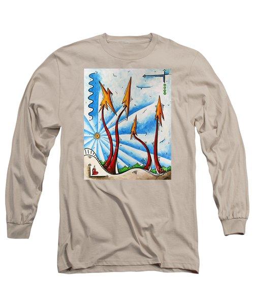 Unique Original Abstract Pop Art Style Landscape Painting By Megan Duncanson Long Sleeve T-Shirt