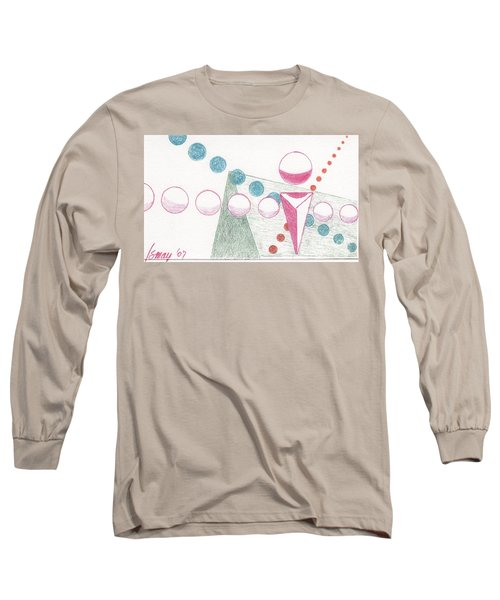 Long Sleeve T-Shirt featuring the drawing Still Motion by Rod Ismay