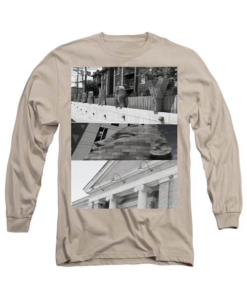 Long Sleeve T-Shirt featuring the photograph Uptown Library by Susan Stone