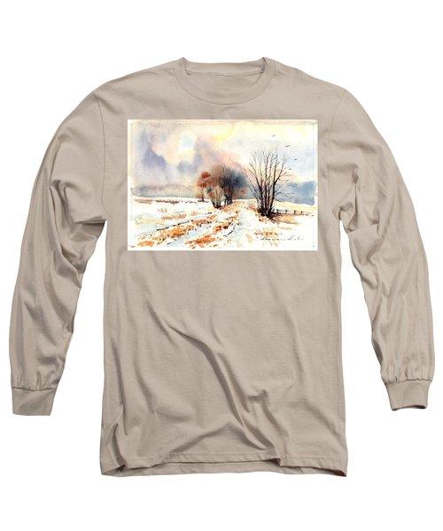 Village Scene Iv Long Sleeve T-Shirt