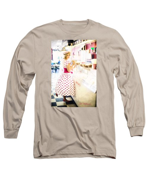 Vintage Val Ice Cream Parlor Long Sleeve T-Shirt