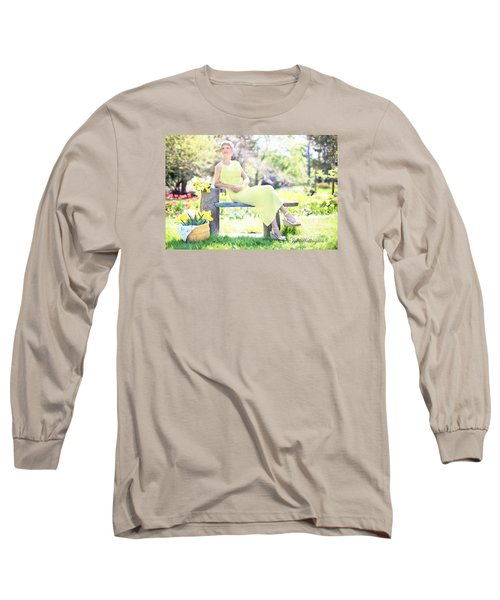 Vintage Val Spring Tulips Long Sleeve T-Shirt by Jill Wellington