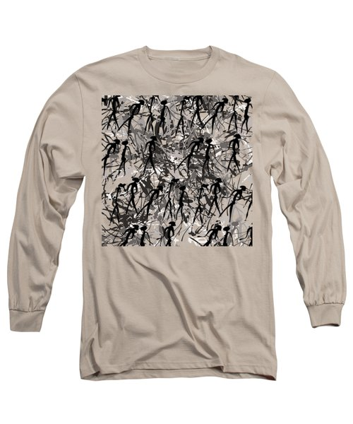 Warriors - Primitive Art Long Sleeve T-Shirt by Michal Boubin