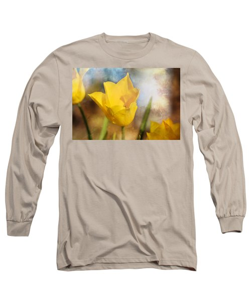 Water Lily Tulip Flower Long Sleeve T-Shirt