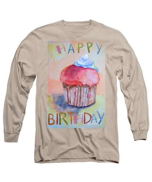 Watercolor Illustration Of Cake  Long Sleeve T-Shirt