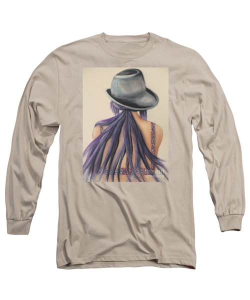 Long Sleeve T-Shirt featuring the painting What Lies Ahead Series   by Chrisann Ellis