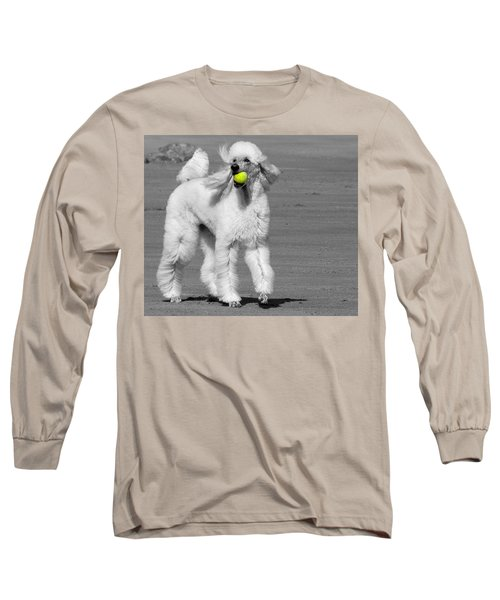Pedicured Pup Hits The Beach Long Sleeve T-Shirt