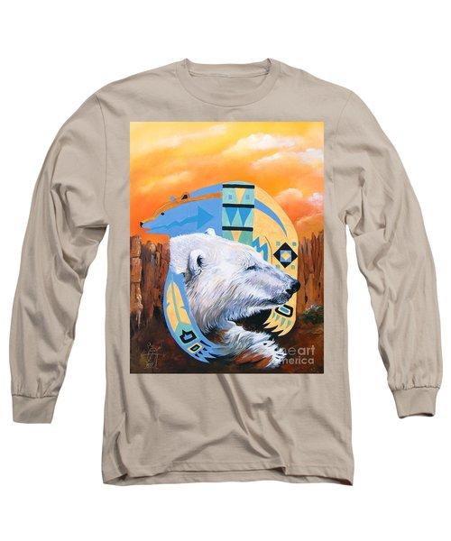 White Bear Goes Southwest Long Sleeve T-Shirt by J W Baker