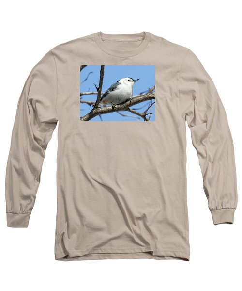 White-breasted Nuthatch Long Sleeve T-Shirt by Ricky L Jones