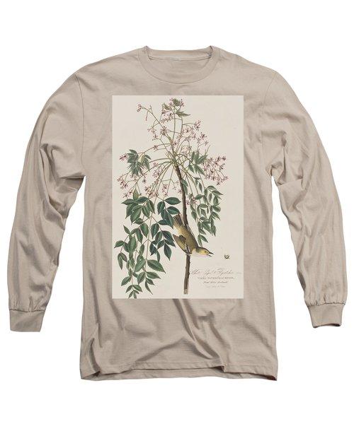 White-eyed Flycatcher Long Sleeve T-Shirt
