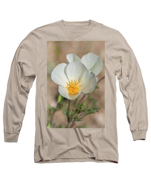 Long Sleeve T-Shirt featuring the photograph White Poppies  by Saija Lehtonen