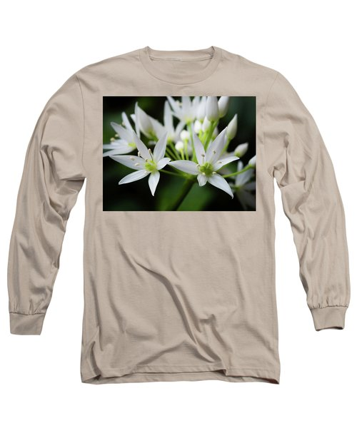 Long Sleeve T-Shirt featuring the photograph Wild Garlic by Nick Bywater