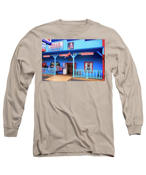 Willie Nelson And Friends Museum And Souvenir Store In Nashville, Tn, Usa Long Sleeve T-Shirt