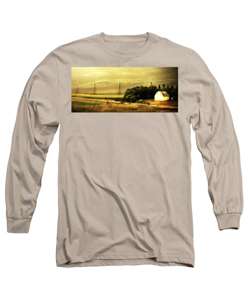 Wind Turbines Long Sleeve T-Shirt by Julie Hamilton