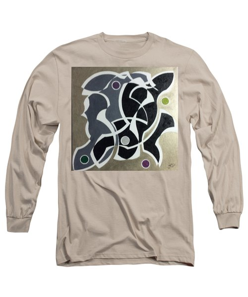 Long Sleeve T-Shirt featuring the painting Winter by Hang Ho