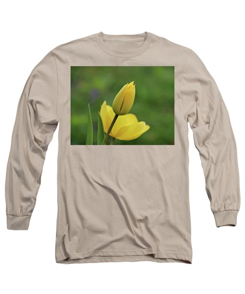 Long Sleeve T-Shirt featuring the photograph Yellow Tulips by Sandy Keeton