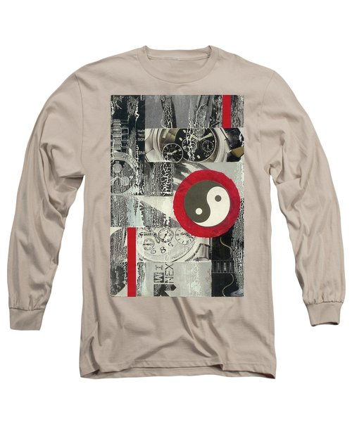 Long Sleeve T-Shirt featuring the mixed media Ying Yang by Desiree Paquette