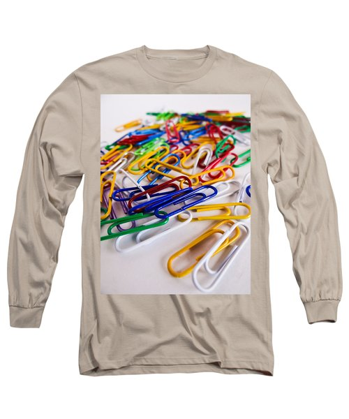 100 Paperclips Long Sleeve T-Shirt by Julia Wilcox