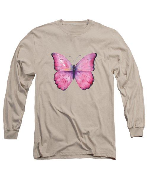105 Pink Celestina Butterfly Long Sleeve T-Shirt