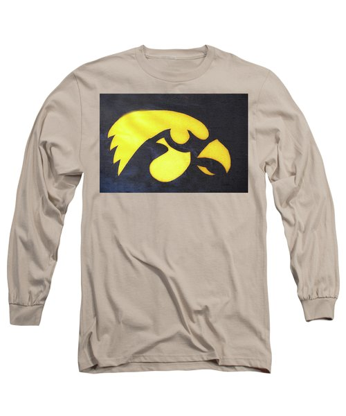 10724  Iowa Hawkeye Long Sleeve T-Shirt by Pamela Williams