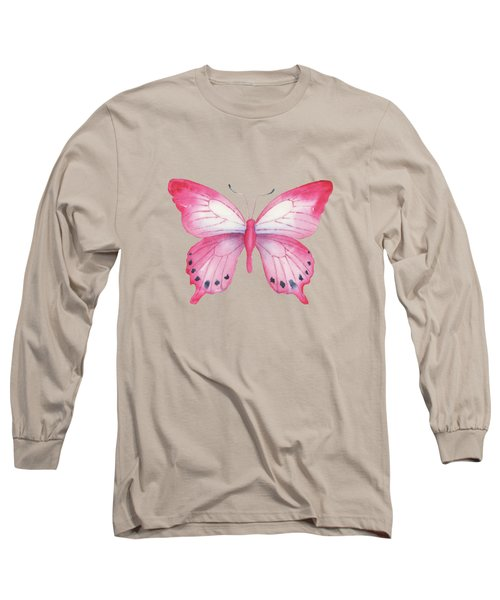 108 Pink Laglaizei Butterfly Long Sleeve T-Shirt