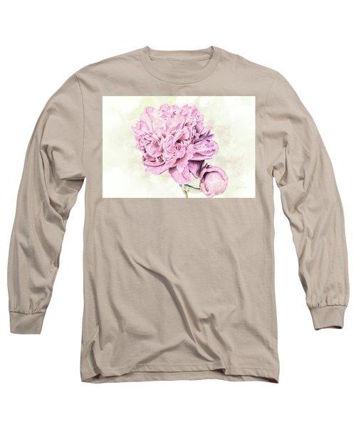 10861 Spring Peony Long Sleeve T-Shirt by Pamela Williams