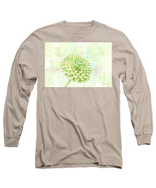 10891 Green Chrysanthemum Long Sleeve T-Shirt