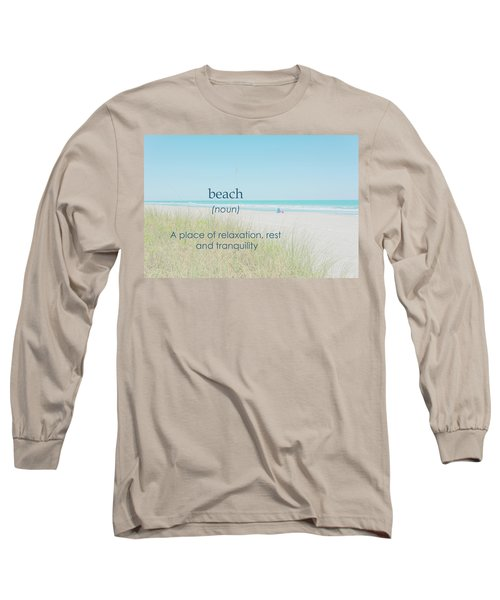 10967 Beach Tranquility Long Sleeve T-Shirt