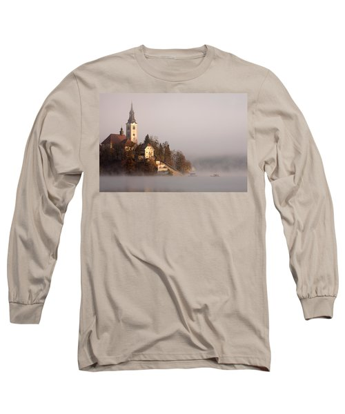 Misty Lake Bled Long Sleeve T-Shirt