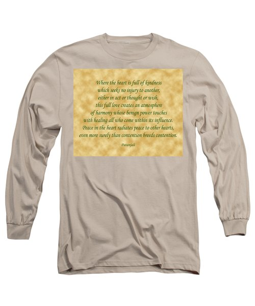 11- Where The Heart Is Full Long Sleeve T-Shirt by Joseph Keane