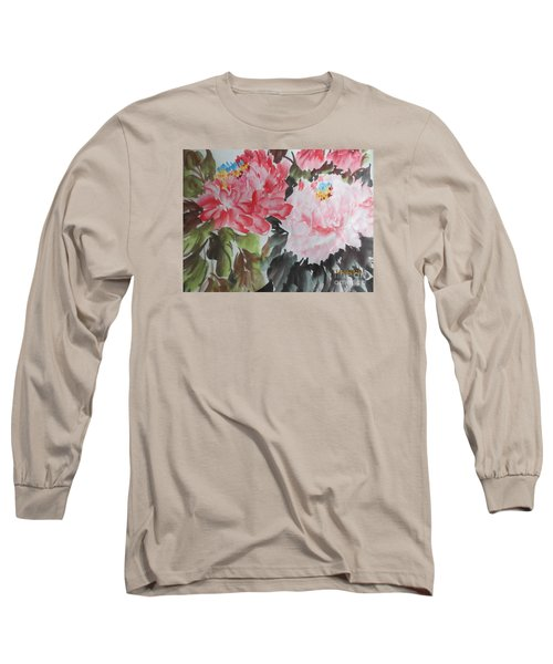 Long Sleeve T-Shirt featuring the painting 11192015-0756 by Dongling Sun
