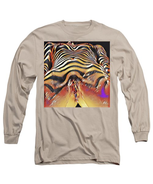 1290s-ak Intimate Vulval Portrait Rendered In The Style Of Francis Picabia  Long Sleeve T-Shirt